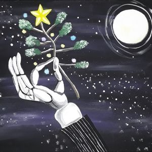 Nightmare Before Christmas Painting